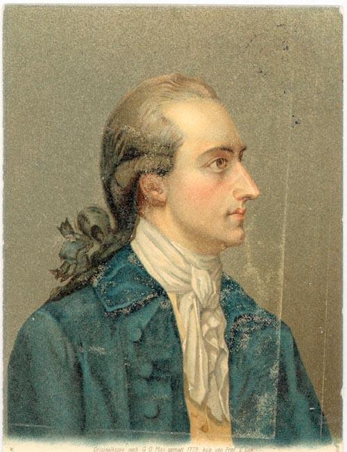 Johann Wolfgang von Goethe, Jugendbild