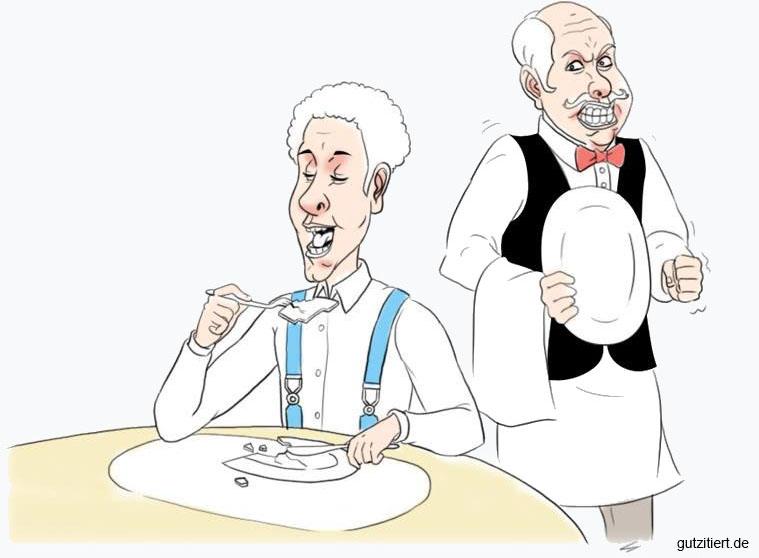 Sprachlupe: Der aufgegessene Teller