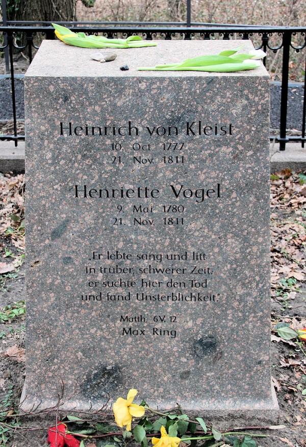 Ehrengrab Heinrich von Kleist, Henriette Vogel