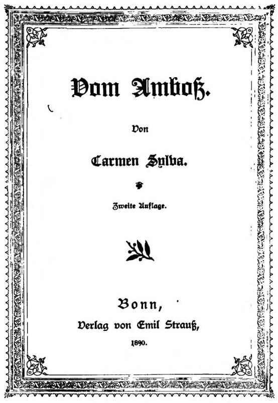 Titelblatt >Vom Amboss< Carmen Sylva - Elisabeth zu Wied, Königin von Rumänien